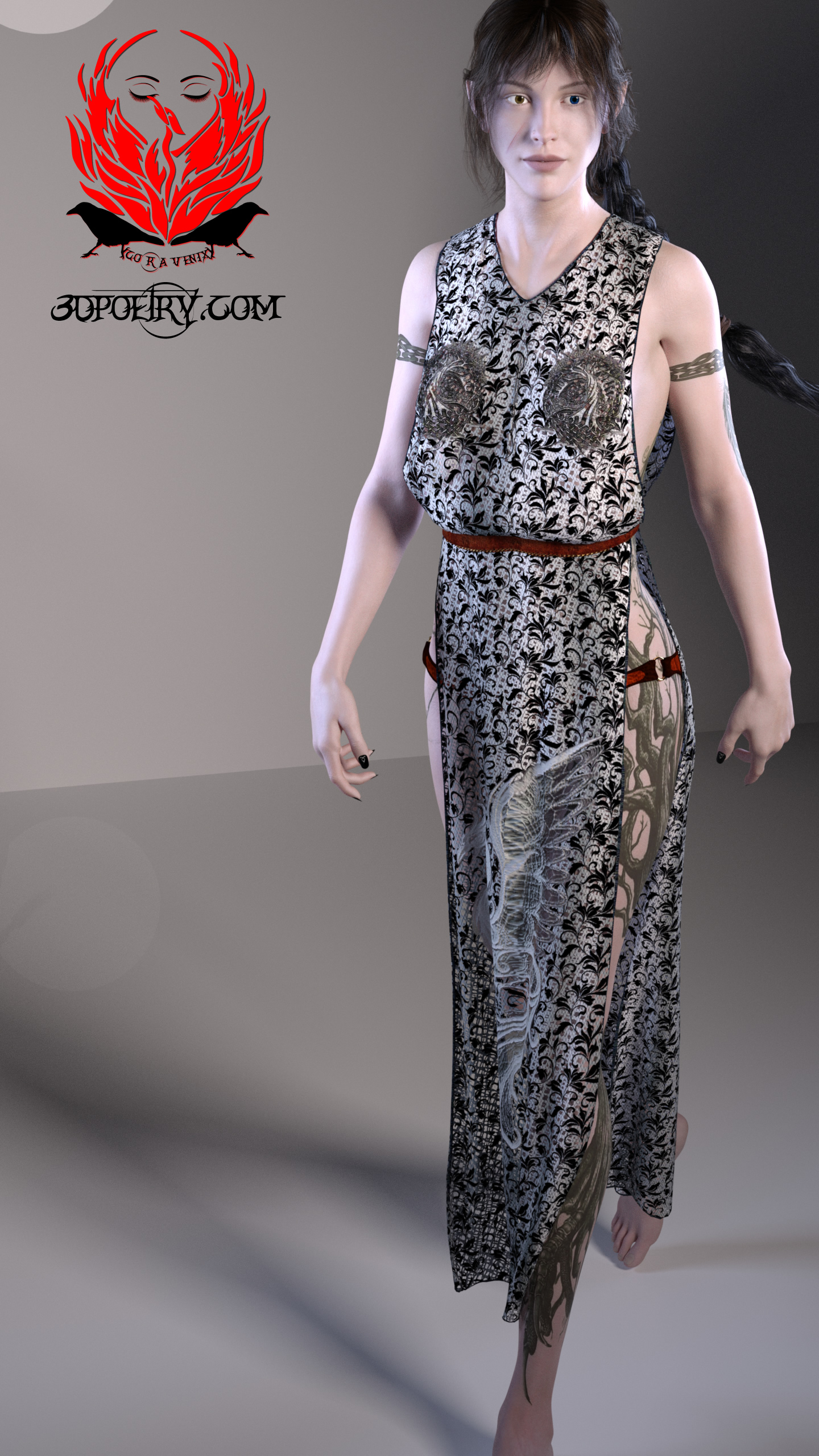 Been working flat out on Cora Venix's new outfits.  This is a test render at 50  ... see more below